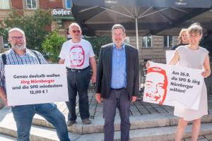 Straßenwahlkampf Bundestagswahl 2021 - Ingo Wolfrum, Klaus Adelt, Jörg Nürnberger, Karola Böhm. Eva Döhla