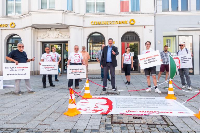 Aktionstag in der Hofer Altstadt - 14.8.21 - BTW 21 - Jörg Nürnberger